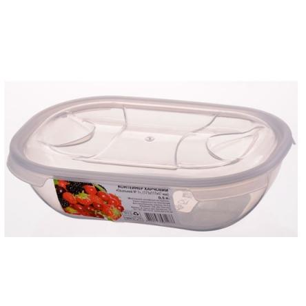 Контейнер пищевой овальный (0,5 л)