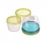 Набор круглых герметичных контейнеров TWIST 1.180Л + 0.88Л + 0.6 Л