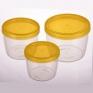 Набор круглых герметичных контейнеров TWIST 0.6Л + 0.37Л + 0.25Л